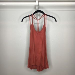 BOOHOO rust red strapy tank top, NWOT